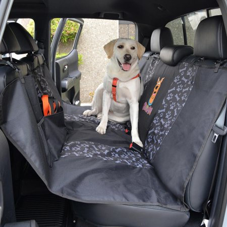 Scooby-Doo Bench Dog Seat Cover for Car SUV & Truck - 100% Waterproof Protection, Double Padded, Front Treat Pocket, Dog & Cat Pet Friendly (Hammock)