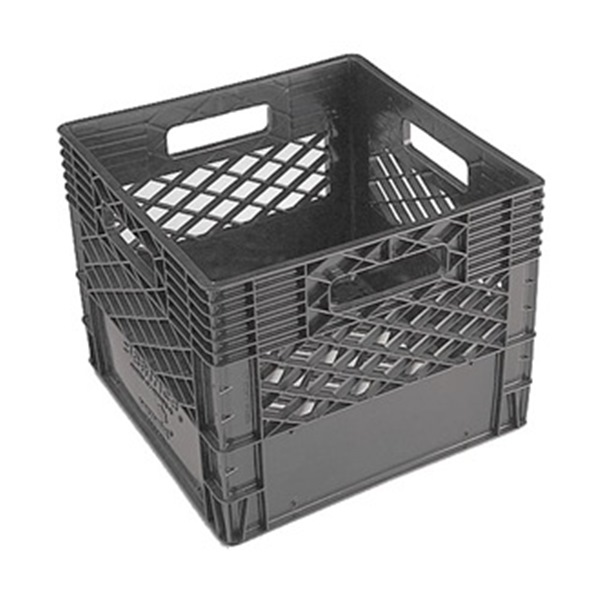 Dairy Crate, Vented, 13x13x11, Black