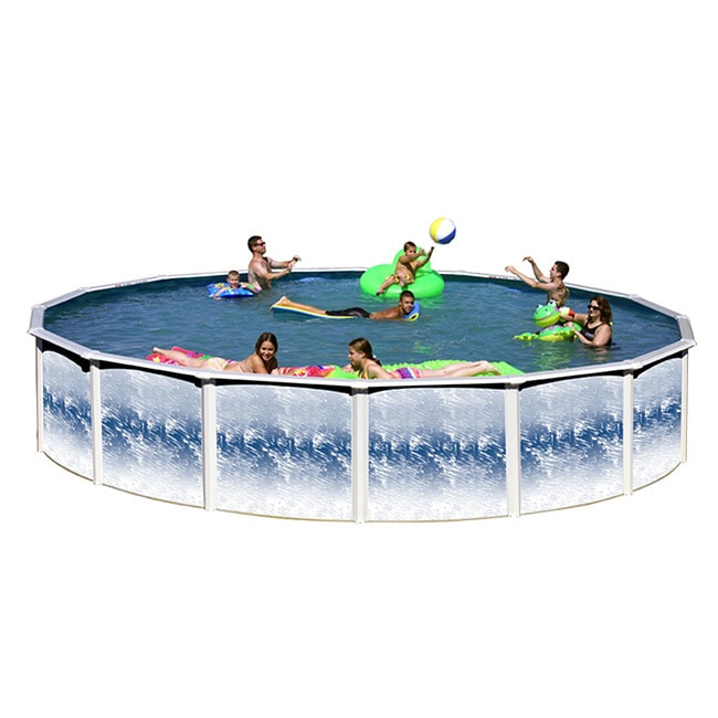 Yorshire 18-foot Round Above Ground Pool by Overstock