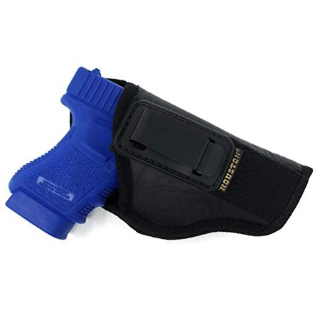 IWB TUCKABLE Gun Holster by Houston - ECO Leather Concealed Carry Soft Material | Fits Sig P250 Sub Comp, P320 Sub Comp, 224 | FNS 9C | XD Mod. 2-3