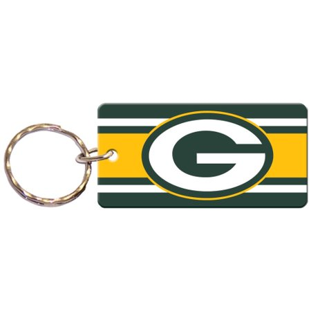 Green Bay Packers Super Stripe Printed Acrylic Team Color Logo Keychain - No Size](Packers Colors)