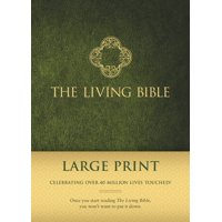 The Living Bible Large Print Edition (Hardcover, Green)
