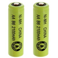 2pc Exell AA SzRechargeable Batteries 2100mAh NiMH 1.2V Button Top  USA SHIP
