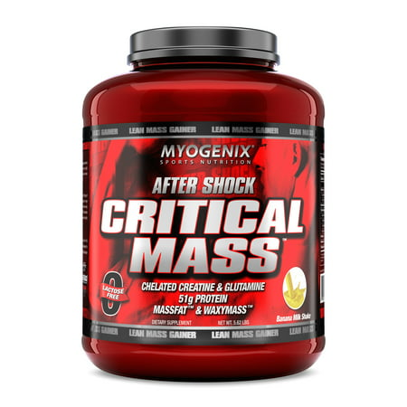 Myogenix Aftershock Critical Mass, Banana Milkshake, (Banana Milkshake Calories)