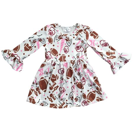 Toddler Girls Long Sleeve Baseball Unicorn Birthday Party Flower Girl Dress Off White 2T XS (P501663P)](Baseball Dress)