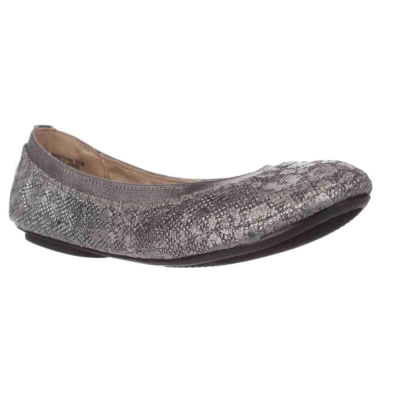 Womens Bandolino Edition Ballet Flats, Pewter Leopard Gla...
