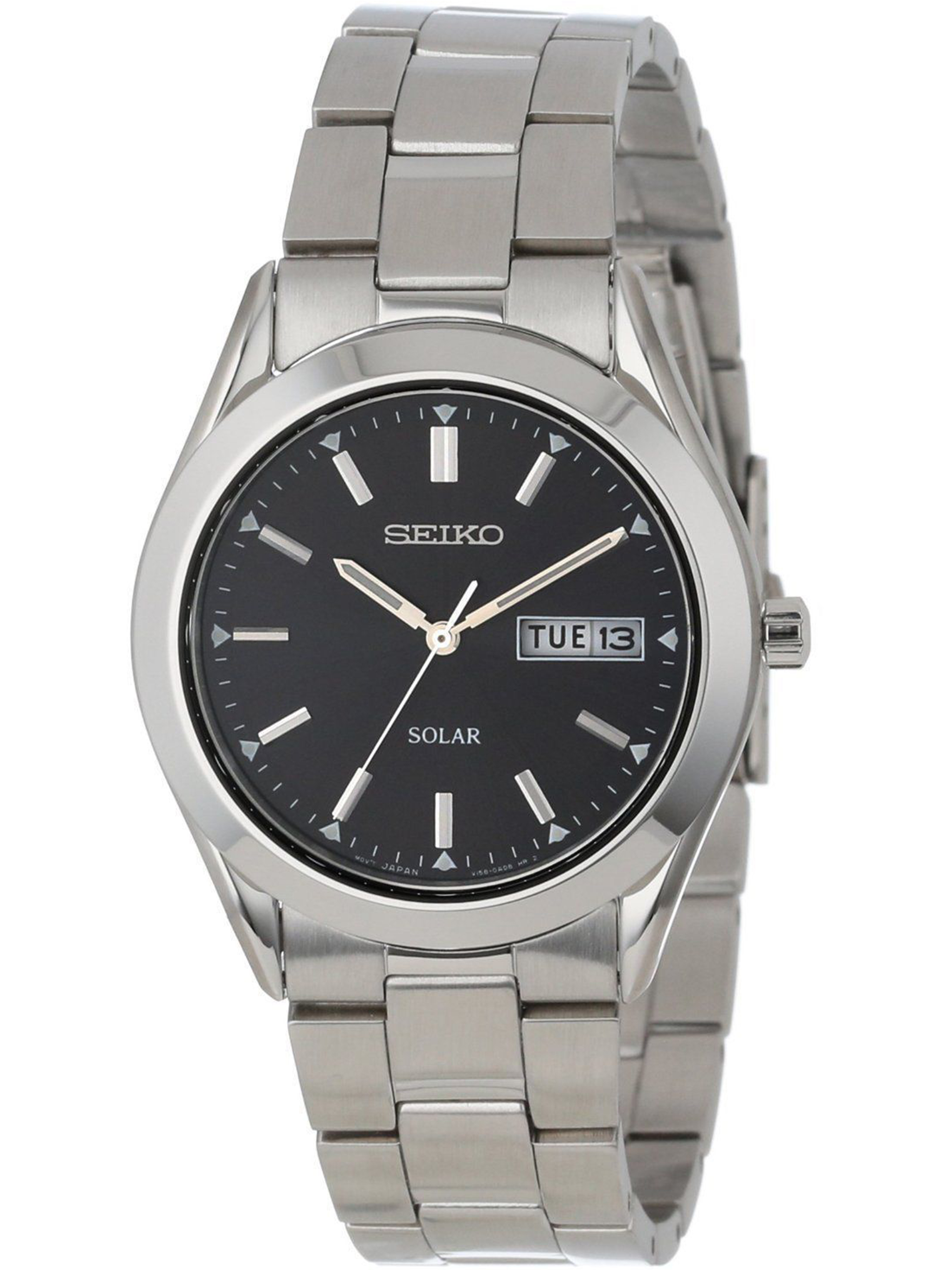 SEIKO SNE039P1,Men's Solar Quartz,Stainless steel Case and bracelet,day,date,100m WR,SNE039