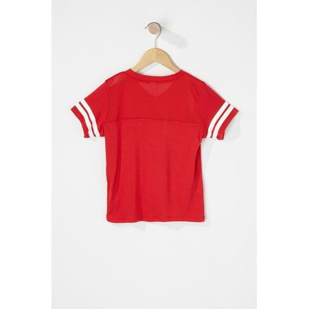 Urban Kids Toddler Boy Canada Day Mesh Varsity Striped Jersey T-Shirt - image 1 of 2
