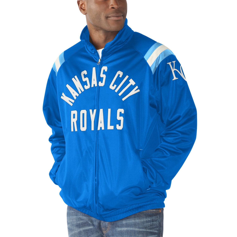 Kansas City Royals G-III Sports by Carl Banks Centerfield Track Full-Zip Jacket - Royal