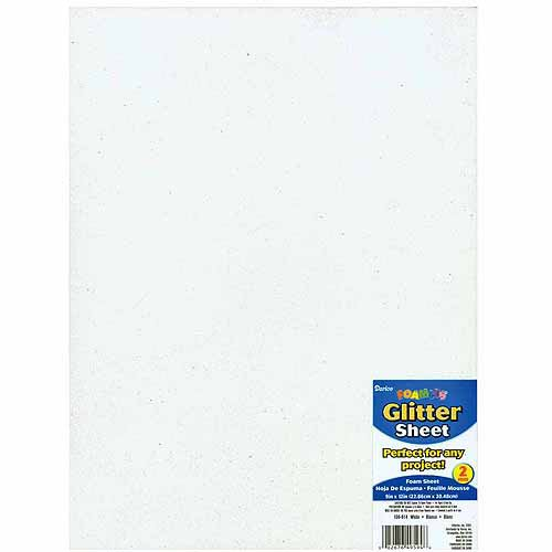"Glitter Foam Sheet, 9"" x 12"", 2mm"