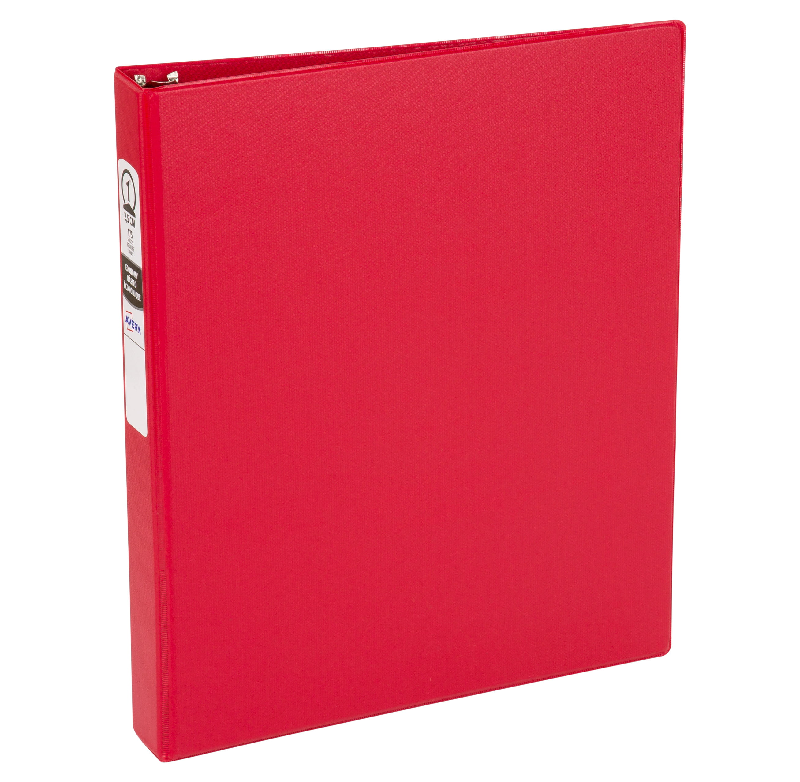 """Avery 1"""" Economy Binder, Round Rings, Red, 175 Sheets"""
