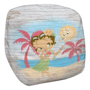 Betty Boop Hula Boop Bean Bag Chair White 21X19X27