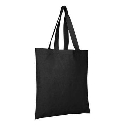 100% Cotton Tote Bags Wholesale | TB100 - Set of 6, Black