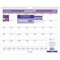 product image at a glance 2019 monthly wall calendar 12 months15