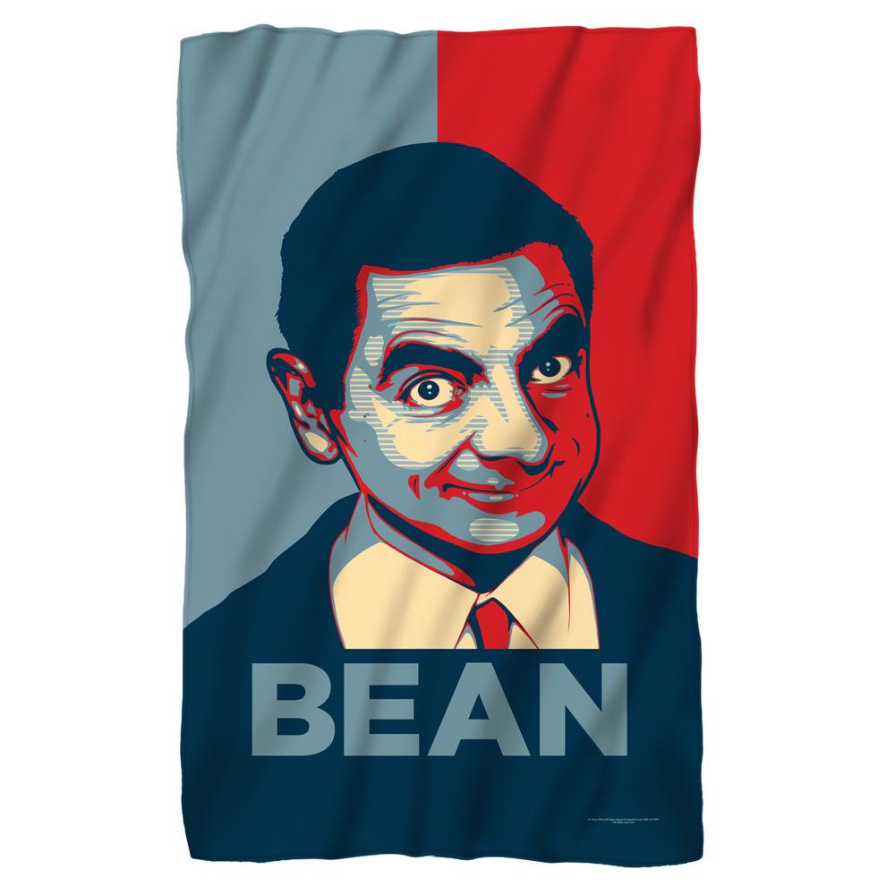 Mr Bean Poster Fleece Blanket White 48X80