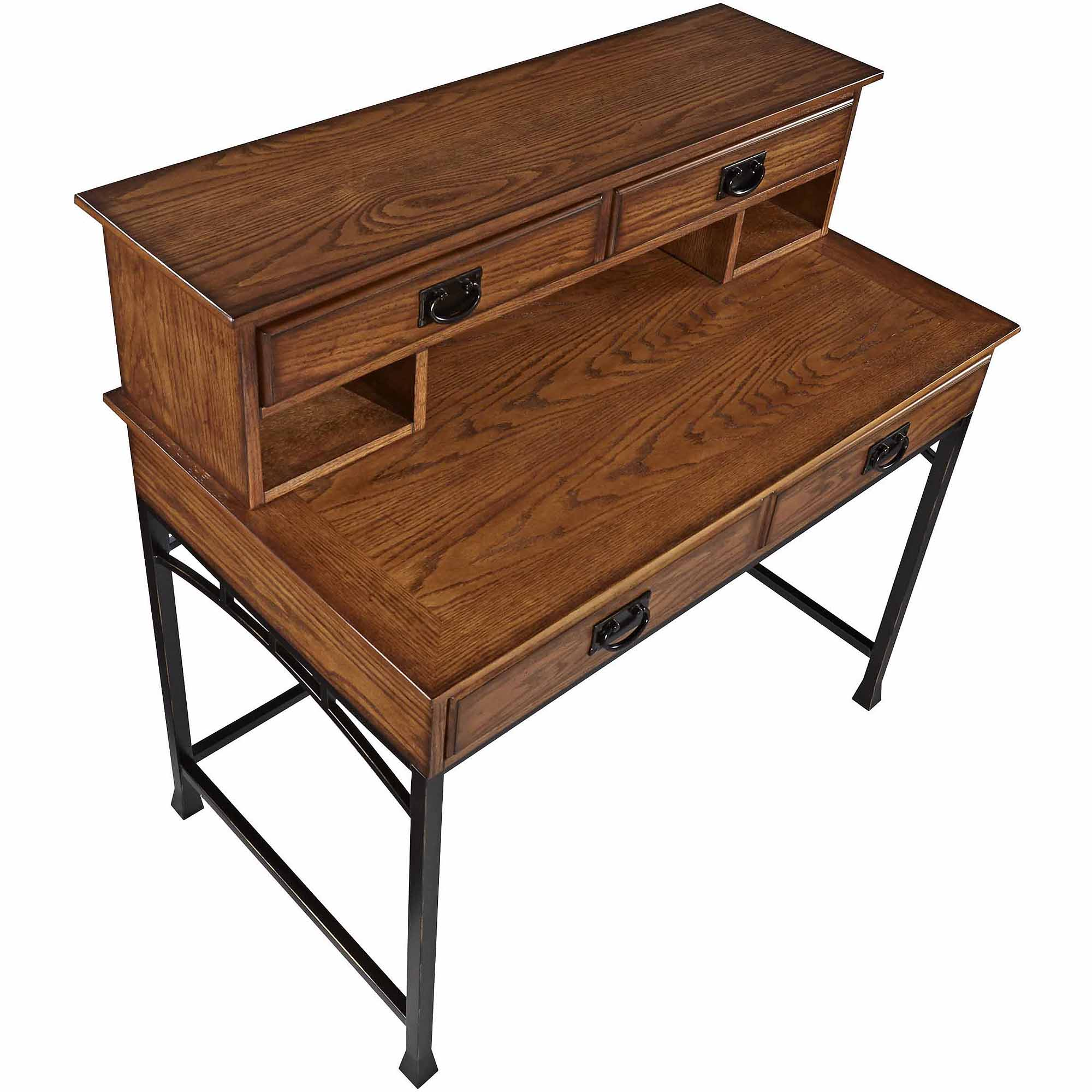 Home Styles Modern Craftsman Student Desk and Hutch