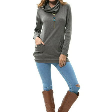 e289c1de3f2 A Blue Man Pullover Tunic Tops for Women , CLEARANCE Women's Long Sleeve Tunic  Shirts,