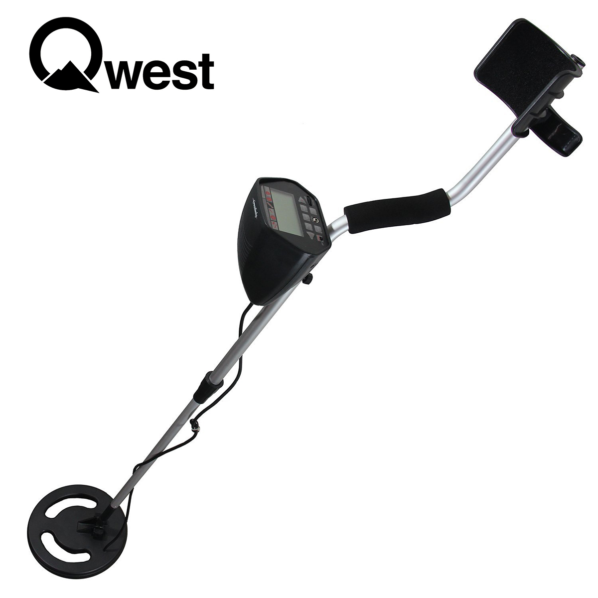 "Click here to buy Qwest 50"" Metal Detector Lcd Display Deep Treasure Hunter Waterproof Coil by Qwest."