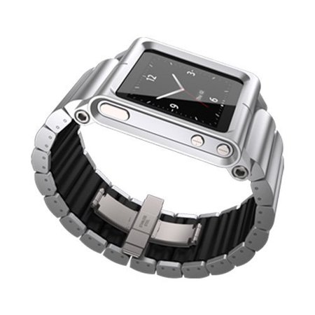 LKSLV-010 Lynk Watch Wrist Strap for iPod Nano 6G - Silver (Apple Ipod Strap)