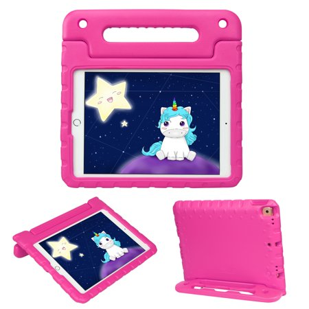 HDE iPad 7th Generation Case for Kids iPad 10.2 inch 2019 Case for Kids Shock Proof Protective Light Weight Cover with Handle Stand for 2019 Apple iPad 10.2 - Hot Pink