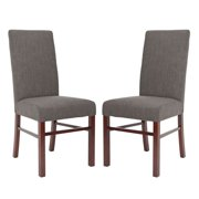 Safavieh Ava Classic Dining Side Chairs - Charcoal Linen - Set of 2