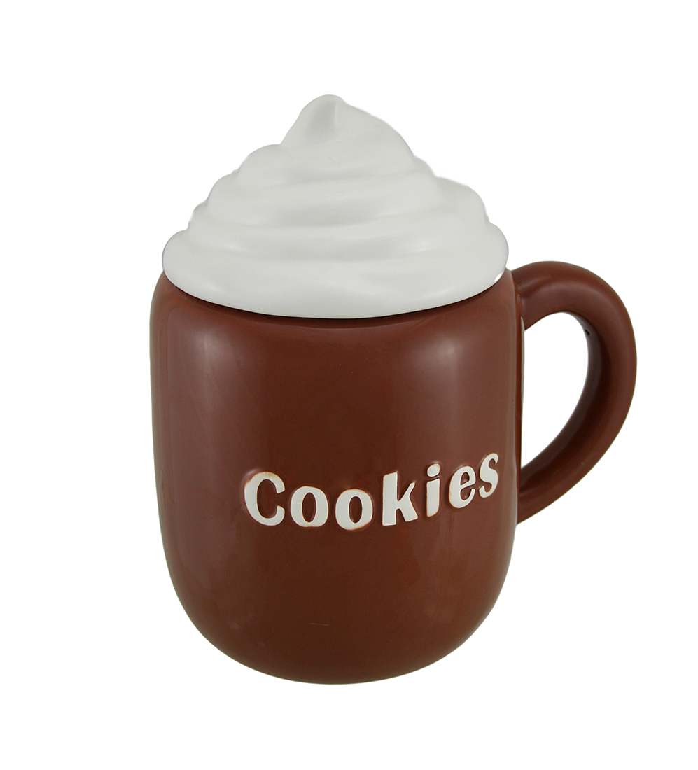 Click here to buy Hot Cocoa Mug Ceramic Cookie Jar by B G SALES INC..