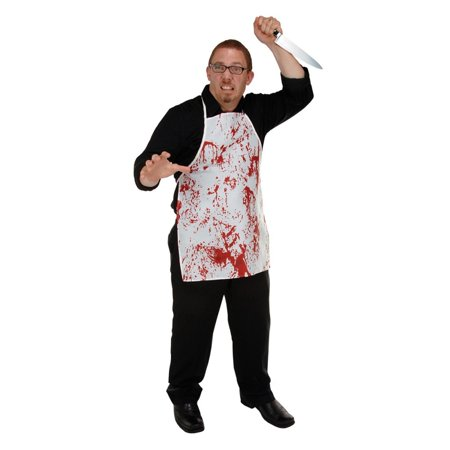 Pack of 6 Bloody Butcher Hallween Horror Fabric Kitchen Aprons - One - Horror Butcher