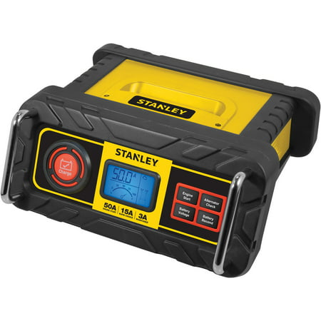 STANLEY 15 Amp Battery Charger with 50 Amp Engine Start