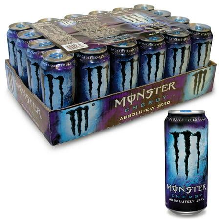 Monster Absolutely Zero Energy Drink   24 16 Oz