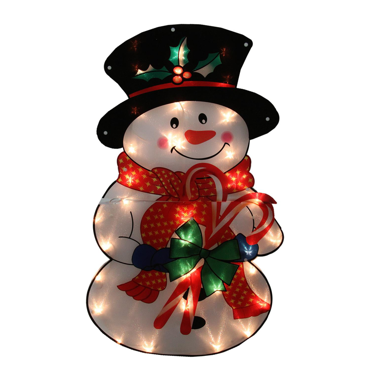 30 lighted shimmering snowman outdoor christmas yard art decoration clear lights walmartcom - Wayfair Outdoor Christmas Decorations