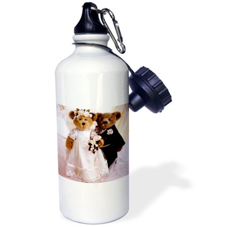 3dRose Wedding Anniversary Personalized, Sports Water Bottle, 21oz
