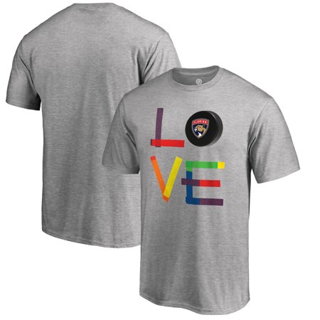 Florida Panthers Fanatics Branded Hockey Is For Everyone Love Square Big & Tall T-Shirt - Heather Gray