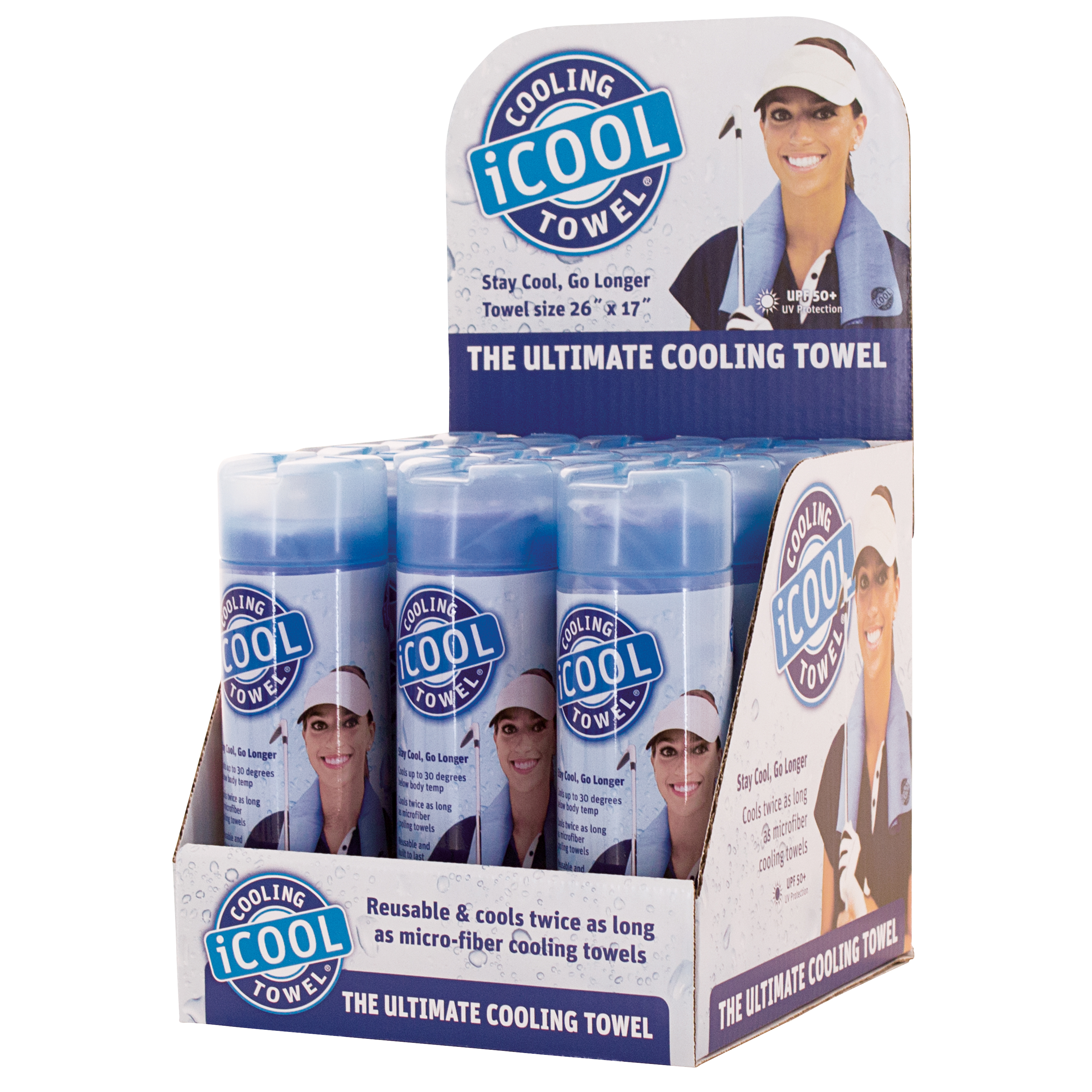 iCOOL Cooling Towel | Sky Blue | Size 24 x 17