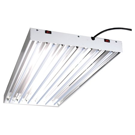 125w Fluorescent Grow Light (Hydrofarm Designer T5 System 4 Foot 6 Tube Fluorescent Grow Lights with Bulbs)