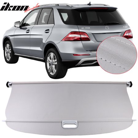 Retractable Hard Tonneau Covers (Fits 12-15 Benz ML Series ML350 PU Leather Tonneau Cargo Cover)