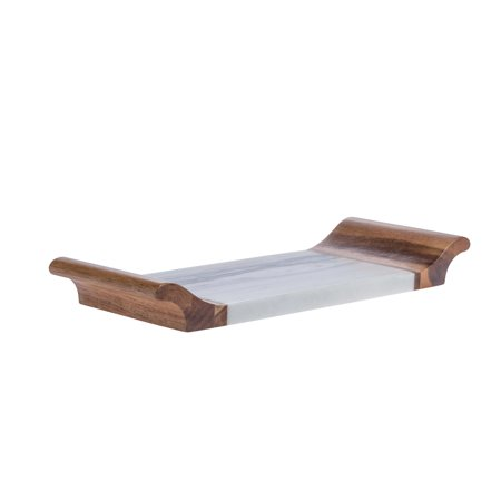 Denmark Acacia and Marble 12.01 Inch Small Serving Tray (Small Serving Tray)