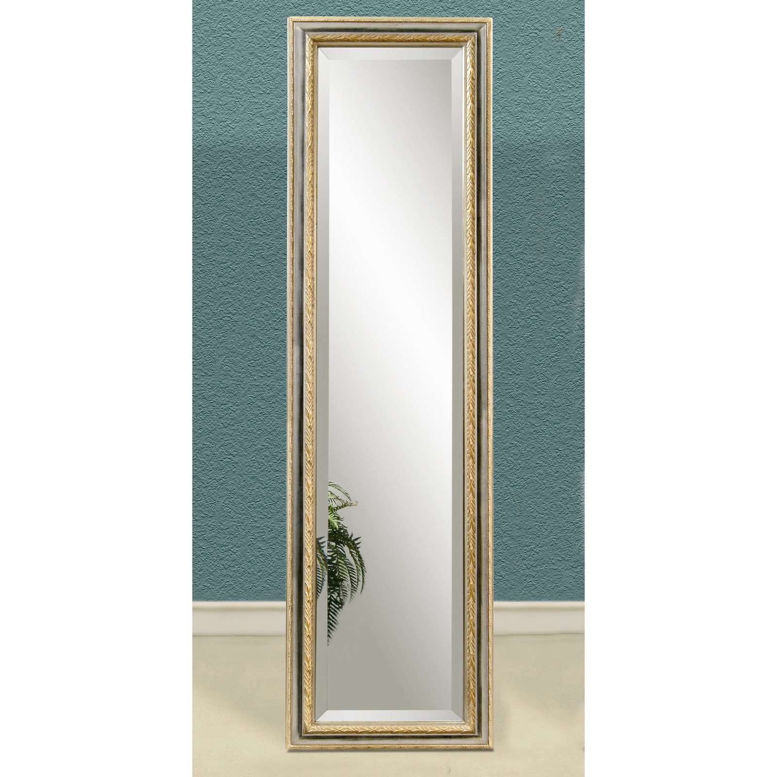 Silver Gold Full Length Cheval Floor Mirror 18w X 64h In Com