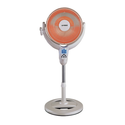 "Optimus Electric 14"" Oscillating Pedestal Digital Dish Heater w/Remote Control, HEOP4500"