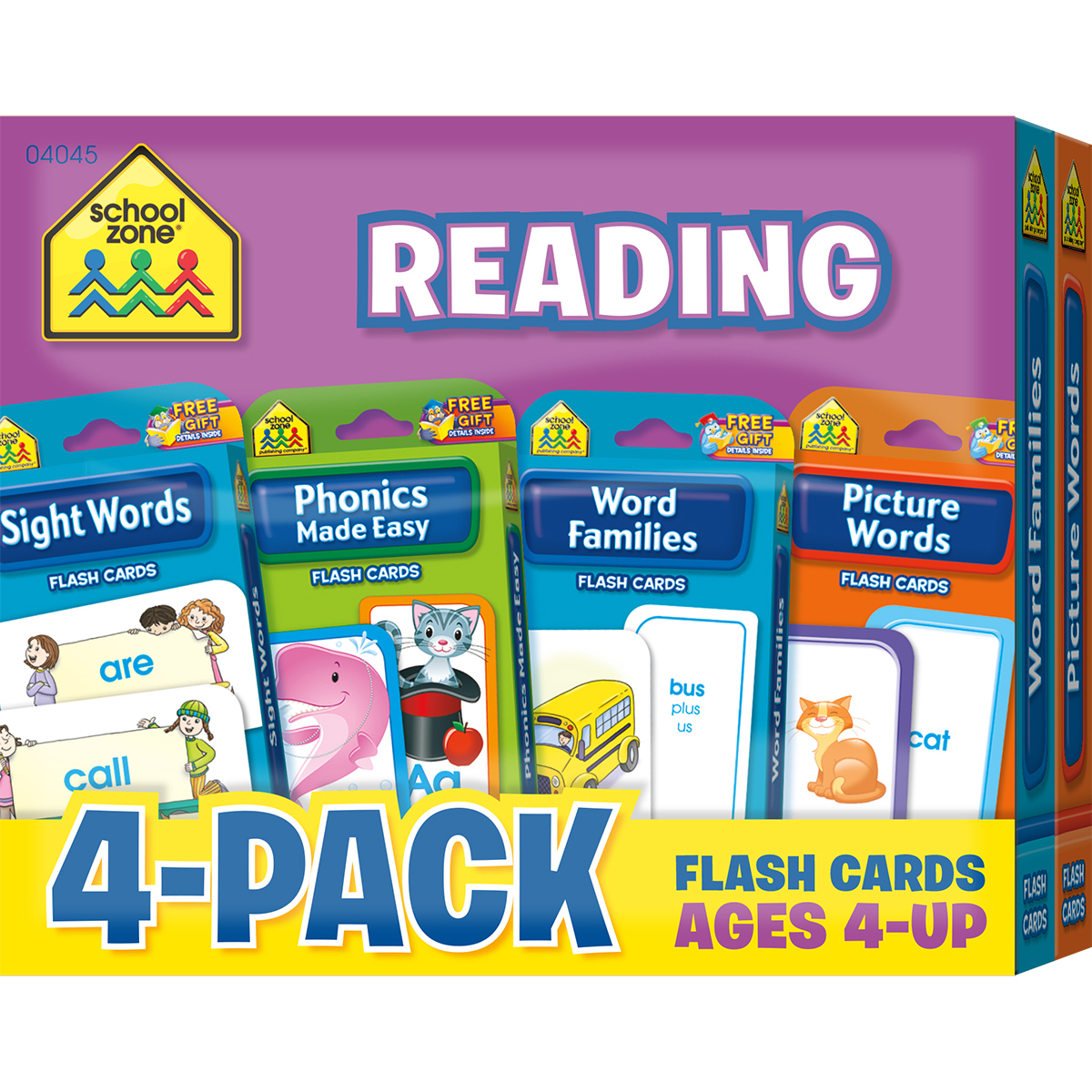 Flash Cards 4-Pack-Math 1-2
