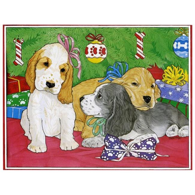 Pipsqueak Productions C466 Holiday Boxed Cards- Cocker Spaniel English Mix
