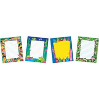 "Trend Enterprises School Time Assortment Notepad Pack, 6.5"" x 7.75"", Assorted Designs, Set of 4"