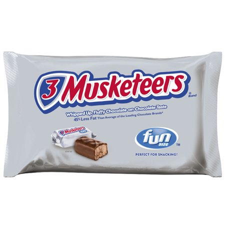 3 Musketeers, Fun Size Chocolate Candy Bars, 20.92 Oz for $<!---->