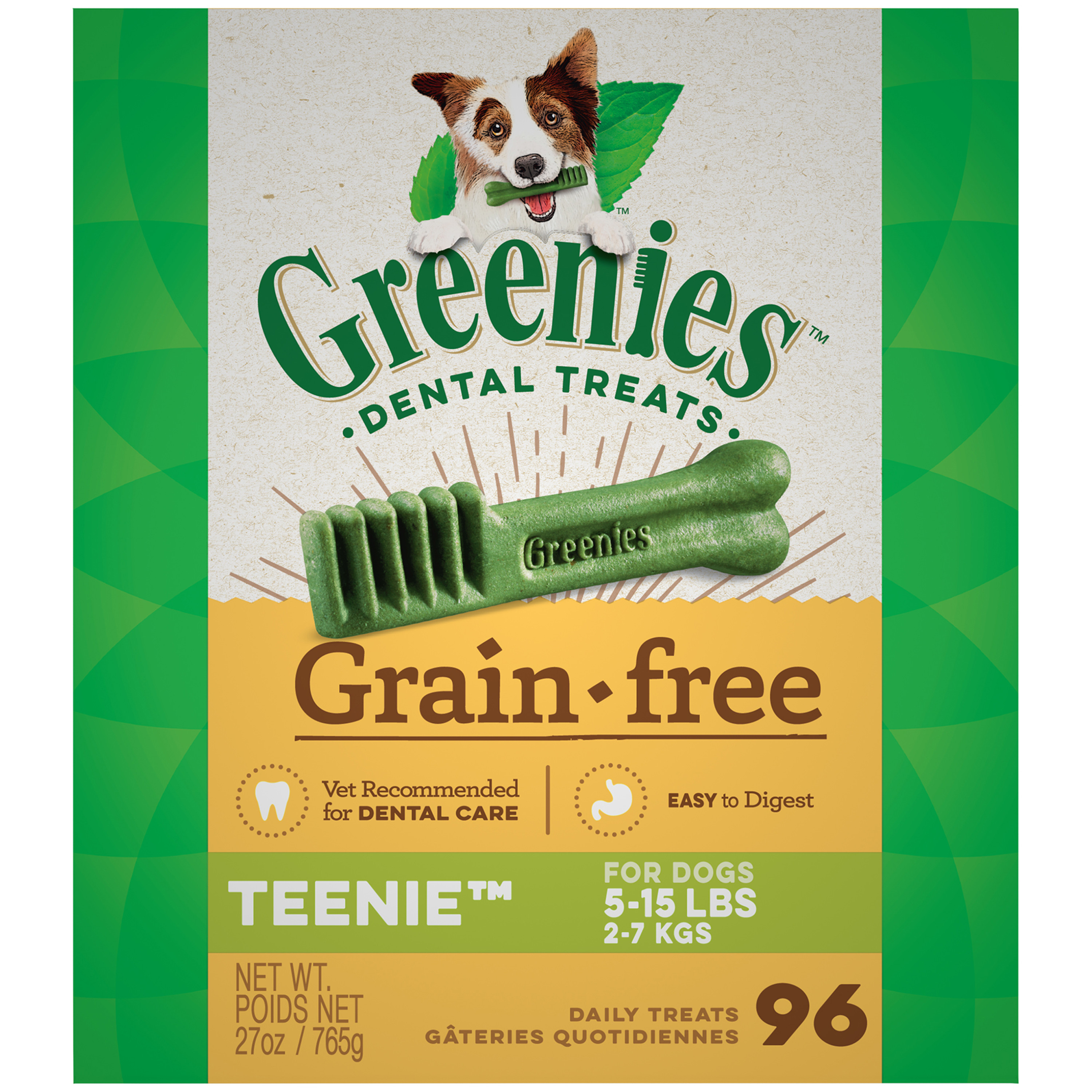 GREENIES Grain Free TEENIE Dental Dog Treats, 27 oz. Pack (96 Treats)