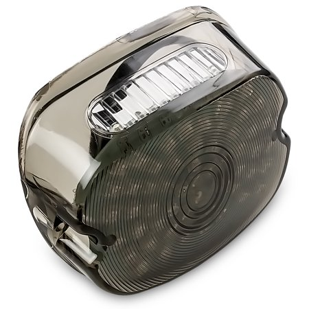 Krator Smoke Integrated LED Taillight w/ Turn Signals for 1999-2009 Harley Davidson Night Train - FXSTB - image 1 of 6
