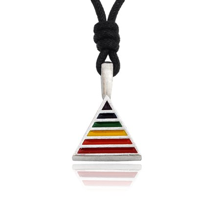 Lovely Rainbow Gay Marriage LGBT Silver Pewter Charm Necklace Pendant Jewelry With Cotton Cord - Gay Pride Necklace