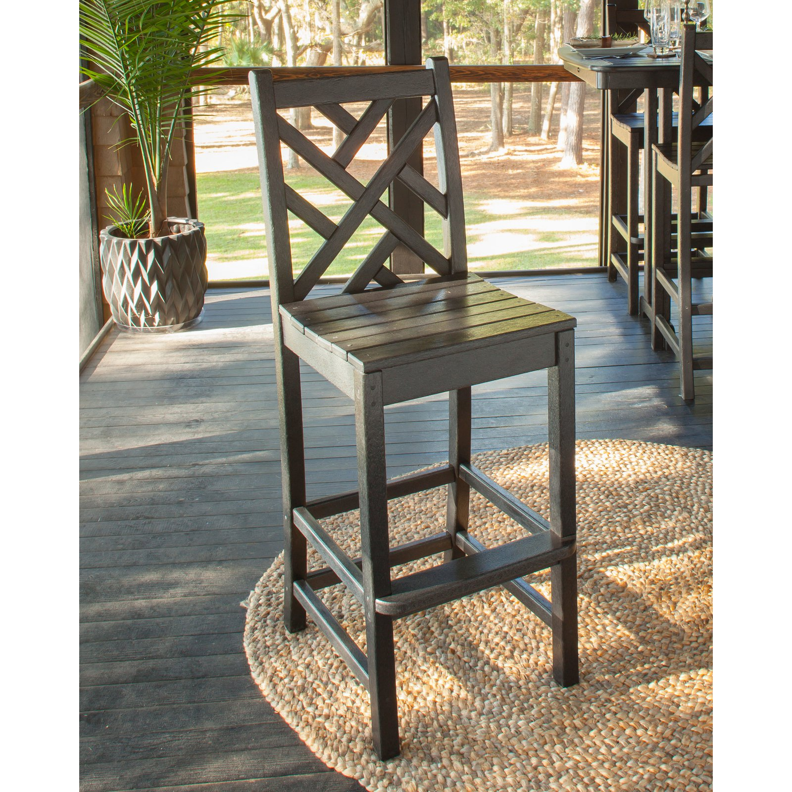 POLYWOOD® Chippendale Bar Height Side Chair