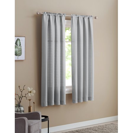 Mainstays Bennett Heavyweight Soft Silver Textured Window
