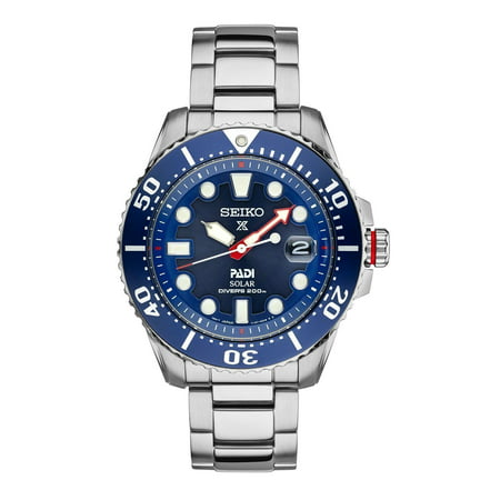 Seiko Men's Prospex Solar Diver PADI-Edition Automatic Stainless Steel Watch SNE435 (Seiko Watches For Men Ssc)