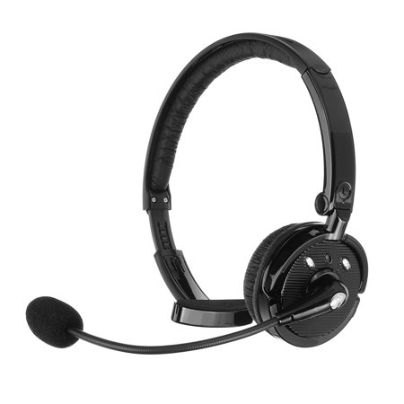 Multipoint Collection - Wireless Truck Driver Headset with Boom Microphone Over The Head Headphone Multipoint Noise Cancelling for iPhone & Android Phones