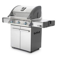 Napoleon 485 Inch Cooking Area Stainless Steel Wheeled Outdoor Propane Gas Grill